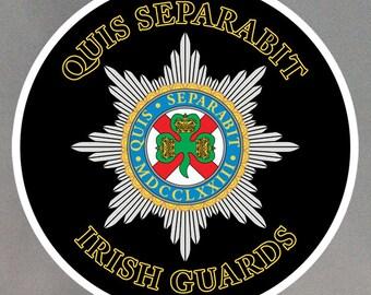 Irish Guards Stickers - Eight 2 Inch Stickers - Weatherproof Vinyl with Laminate Overlay 2-0022