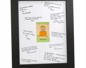 Little Pumpkin Signature Mat with Frame - Personalized Gifts for a Baby Shower or Birthday Party