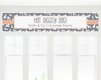 Dog Silhouettes Party Banner - Custom Dog Party Decorations