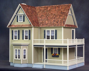 Dollhouse Kit - Victoria's Farmhouse Unfinished Dollhouse Kit on Sale Now!