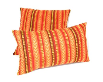 Free shipping/STRIPES LUMBAR Pillow Cover 12x20 inches-Multicolor-terracotta -Throw pillow-Decorative pillow-Accent pillow-Handmade cotton.