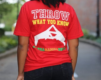 Alpha Gamma Delta Throw What You Know American Apparel V-neck - AGD v-neck