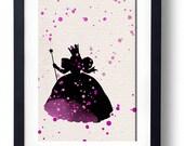 Wizard of Oz Glinda the good Witch watercolor illustrations art children's room wall art disney art home decor nursery art anime geek art