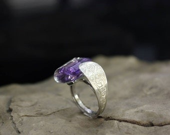 Silver ring With Amethyst from TSP