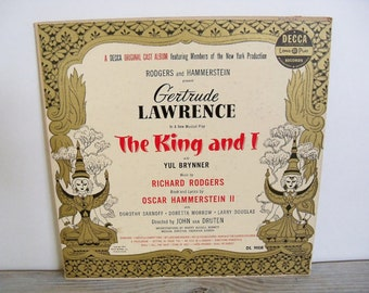 The King and I Antique Album Yul Brynner Gertrude Lawrence Original NY Cast Decca 1951
