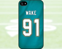 Cameron Wake - Miami Dolphins Case: iPhone 4/4S, 5/5S/SE, 5C, 6/6S, 6 plus/6S plus / Samsung Galaxy S3, S4, S5, S6, S7