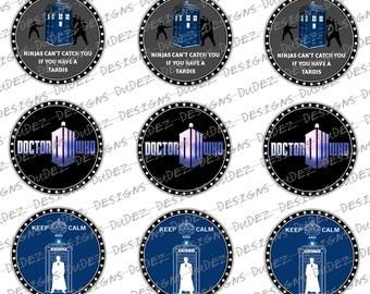 Dr Who Inspired Bottle Cap Images *DIGITAL DOWNLOAD