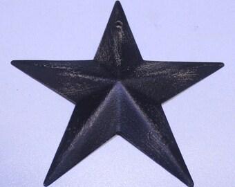 Rustic Black Barn Star, Barn Star Ornament, Primitive Star