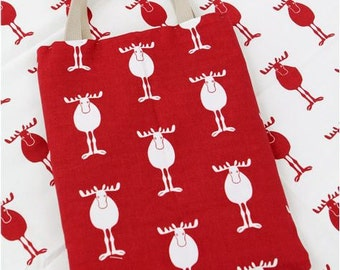 Scandinavian Style Reindeers Pattern 20s Cotton Oxford Fabric