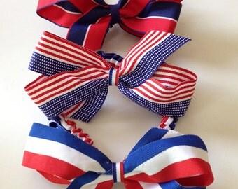 Large Patriotic Grosgrain Headband