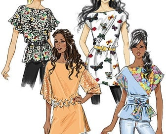 Out Of Print Misses' Top, Tunic and Sash Butterick Pattern B5463