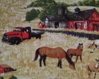 Horse Ranch Double Sided Fleece Blanket