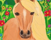 Wildflower Horse - Dainty Warrior Print - Retinoblastoma Cancer Treatment Fundraiser Art