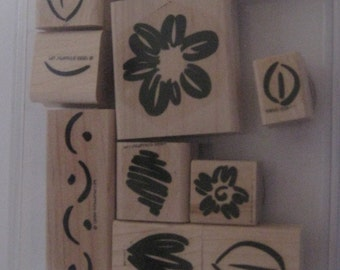 MINT Stampin Up Rubber Stamp Set/ RETIRED 2009 / Scrapbooking / Card Making / Crafting