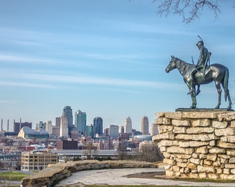 Kc Scout, Kansas City Skyline, Power & Light Building and the Bartle Hall Convention Center, Fine Art Photography by Pitts Photography