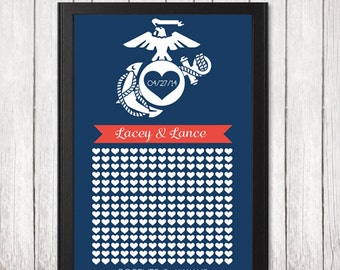 Marine Corps Wedding,Wedding Guestbook,Guestbook,Printable,Download,Instant Download,Marine,Marine Wife,Wife,Fiancee,Military,USMC