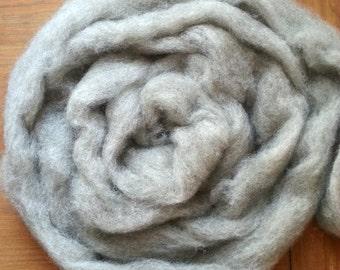 Light Gray-Brown Corriedale Wool Roving, Colorado-Grown, 4 oz.