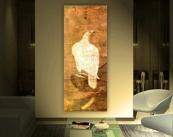 Classical Chinese Painting, Chinese antique art, Fine art, Reproduction, Anonymous. The White Falcon.  Printed copy
