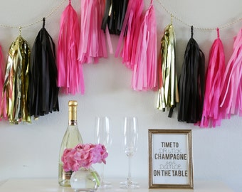 BACHELORETTE tassel garland party decoration //  bachelorette party