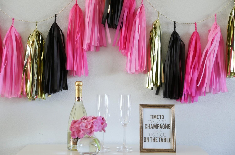Bachelorette tassel garland party decoration bachelorette for Bachelorette decoration