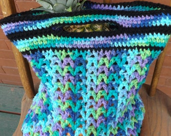 Reusable Crocheted Grocery Bag | AllFreeCrochet.com