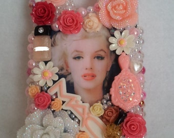 Romantic Marilyn Monroe Iphone Samsung Galaxy Note 5 6 7 Plus Handmade Made to Order Cell Phone Case Homemade