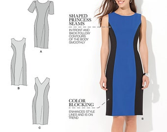 Simplicity Pattern 1586 Misses' / Women's Dress with Individual Pattern Pieces for Slim, Average, and Curvy Fit