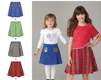 OUT of PRINT Simplicity Pattern 1290 Child's and Girls' Set of Skirts