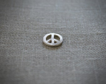 Medal Peace & Love silver. (Bracelet or necklace)