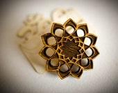 Sunflower Mandala | Lasercut Macro Pin