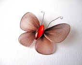 Brown Butterfly Brooch