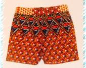 Tatale African Print shorts/ Ankara