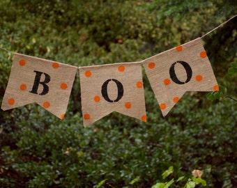 Boo Burlap Banner-Farmhouse Burlap Banner-Fall Banner-Shabby Chic Fall Burlap Banner-Thanksgiving Banner-Fall Banner-Halloween Banner