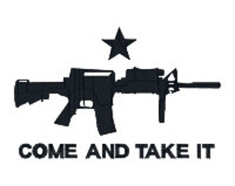 BUY 2, GET 1 FREE Come and Take It Machine Gun Machine Embroidery Design in 3 Sizes