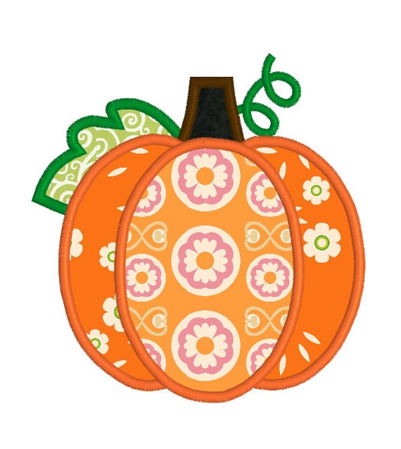 Items similar to buy get free applique pumpkin