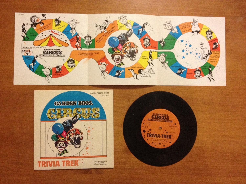 Vintage Record Book Garden Bros Circus By Retrotoysandmore