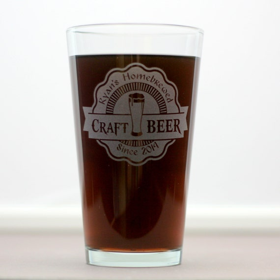 Personalized Etched Craft Beer Glasses