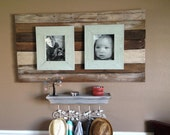 Wood Plank Wall Art 8x10 Double Picture Frame