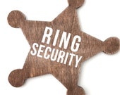 Ring bearer badge, ring security badge, ring bearer pillow