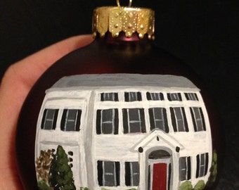 Post-Christmas Delivery - Custom House Ornament, Hand-painted