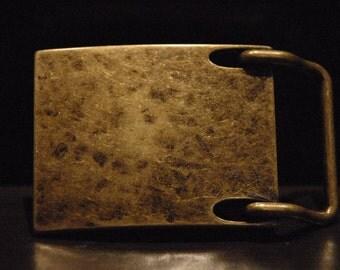 Men's Antique Brass Belt Buckle - For Snap Leather Belt -  Belt Buckle Brass