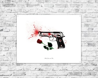 MAKE LOVE not WAR, a printable wall poster, max 60x80 cm