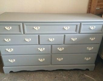 Grey Dresser, Nightstands, Changing Table, Buffet, Credenza, bedroom furniture, Highboy, Tallboy