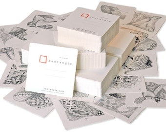 Zentangle®, Zentangle® Tiles - Square White. 55-tiles