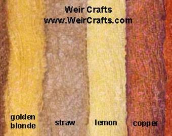 Small Loop Boucle Mohair Yarn in Doll Hair Colors - 3 oz. skein