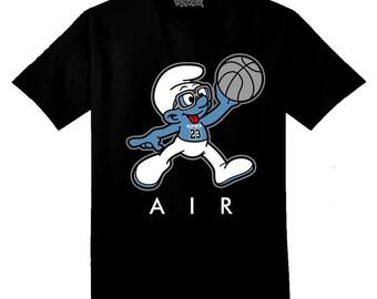 Jordan 3 Powder Blue Smurf Sneaker Tee Shirt
