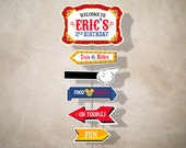 Personalized Mickey Circus arrow sign (digital file)