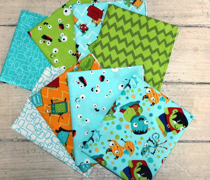 Monster mash by camelot fabrics from sewpiecefully on etsy for Monster themed fabric