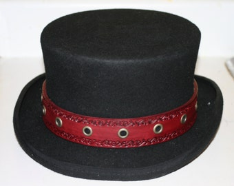 Adjustable Leather STEAMPUNK Western HAT BAND