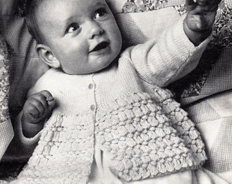 Vintage Knitted Baby Matinee Jacket Pattern.